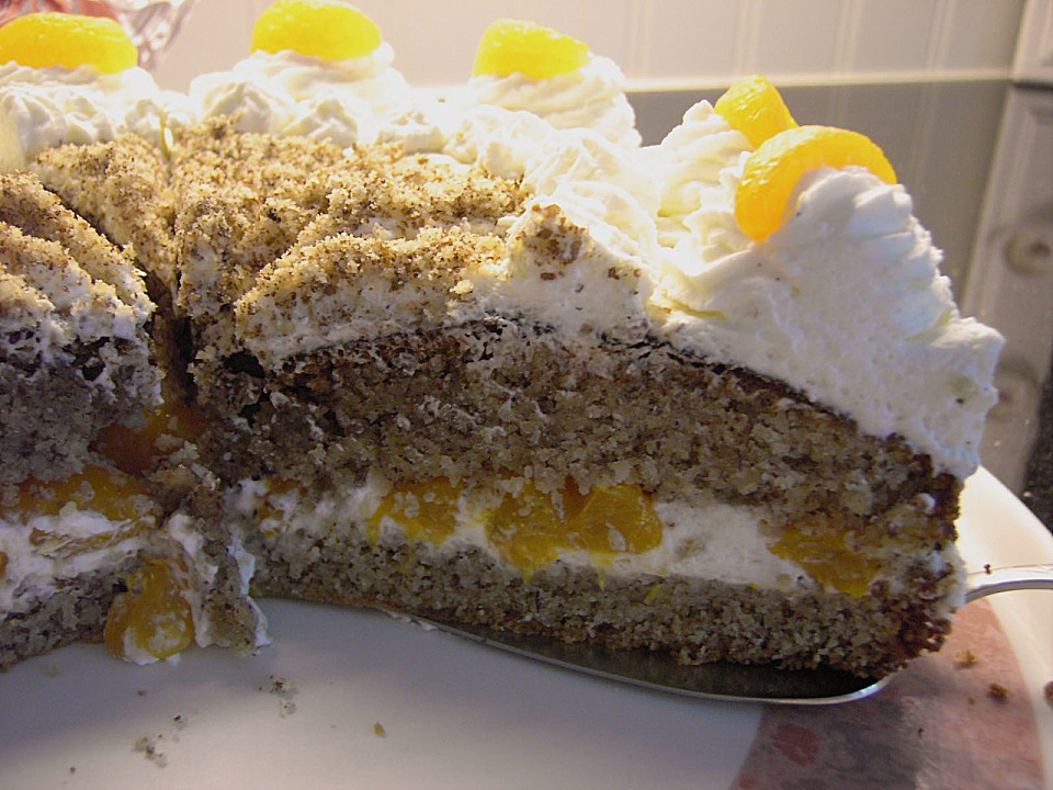 Backen Kochen Geniessen Nuss Mandarinen Sahne Torte