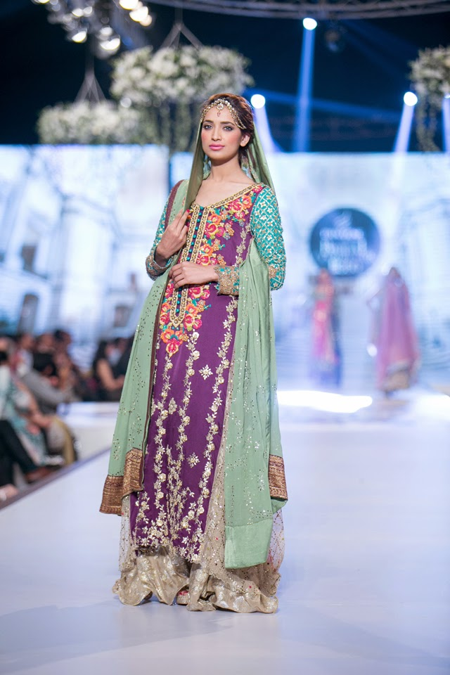 caeb6161a5 Tena Durrani Bridal Collection at Pantene Bridal Couture Week 2014 ...