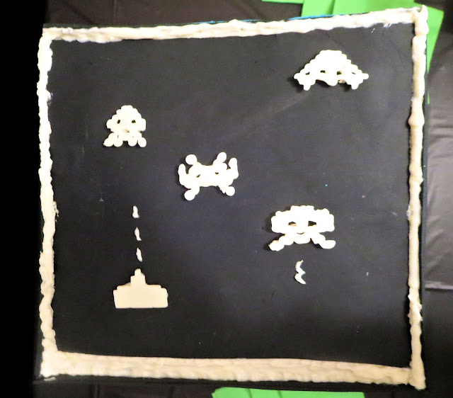 Retro Video Game Cake - Space Invaders Side