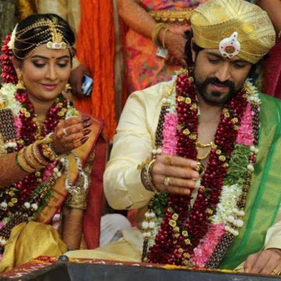 Yash Wedding with  Radhika Pandit