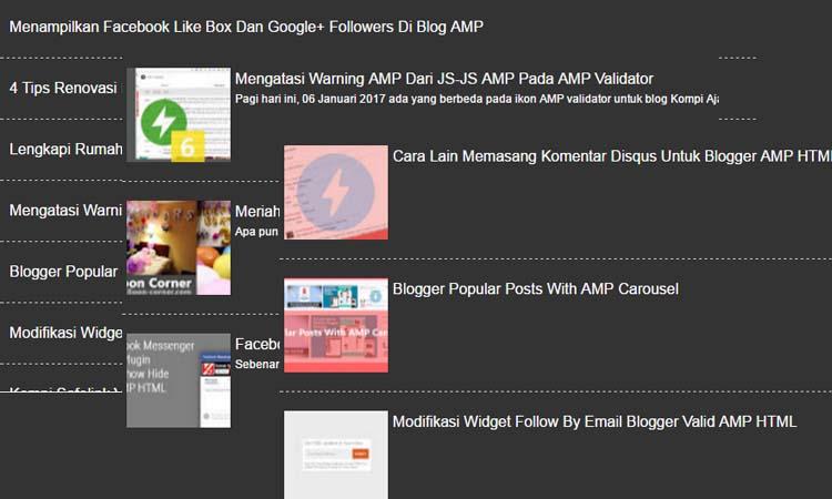 FreeWind Random Posts Untuk Blog AMP HTML Versi Dark