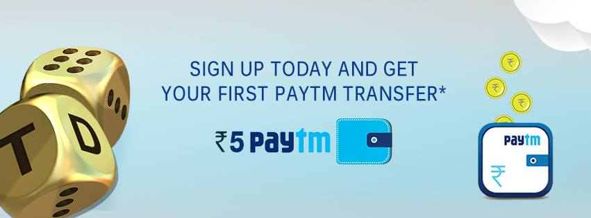 Get Free Paytm Cash by Signing Up on Trivia Dice