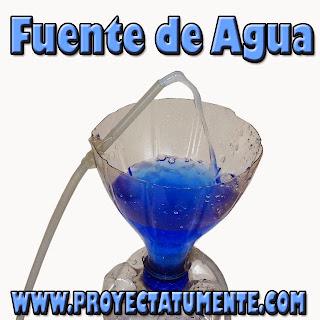 Fuente de agua relajante hecha en casa