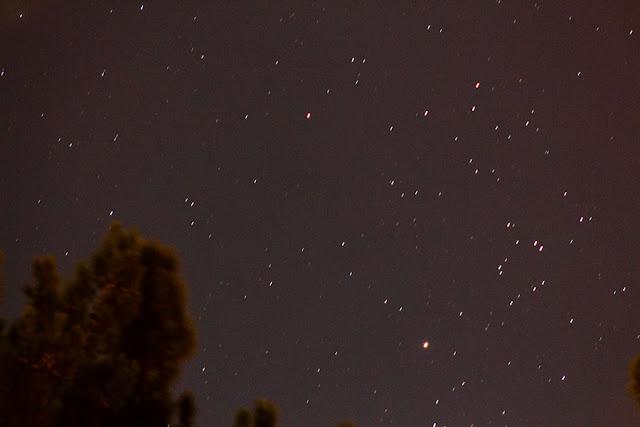 Night sky image (150mm, 10 seconds) of XZ Tau region with bright Aldebaran (Source: Palmia Observatory)