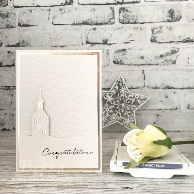 Hometown Greeting Wedding Chapel Card made with Stampin' Up! UK supplies which you can buy here