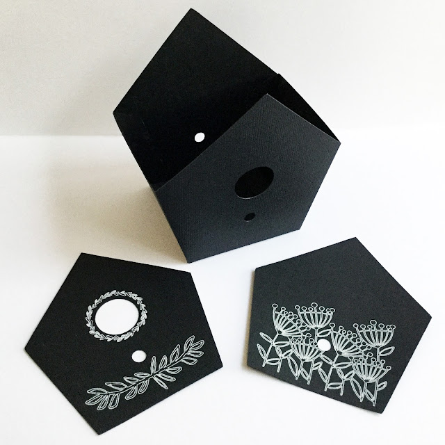 Chalkboard Birdhouse by Janet Packer (Crafting Quine) using Silhouette Sketch Pens. Tutorial combining Simply Crafty SVGs Birdhouse Box and Holiday Lamp Post. http://craftingquine.blogspot.co.uk