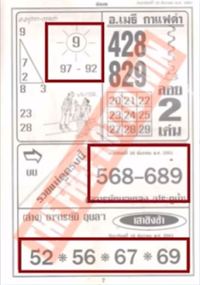Thailand Lottery First 4PC Papers For 16-12-2018 | Lotto Result