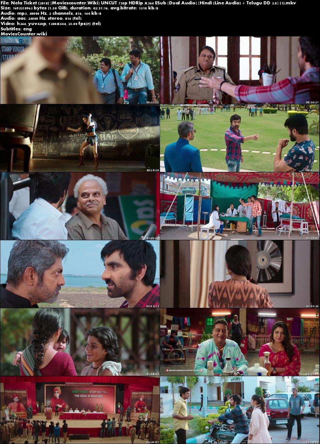 Screen Shots Nela Ticket 2018 Hindi Dubbed HD 720p