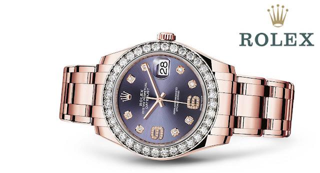 Um dos relógios da Coleção Pearlmaster, da Rolex