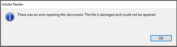 There was an error opening this document. The file is damaged and could not be repaired