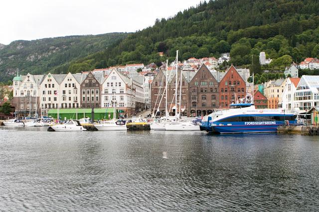 Bryggen vista dal mercato del pesce-Bergen