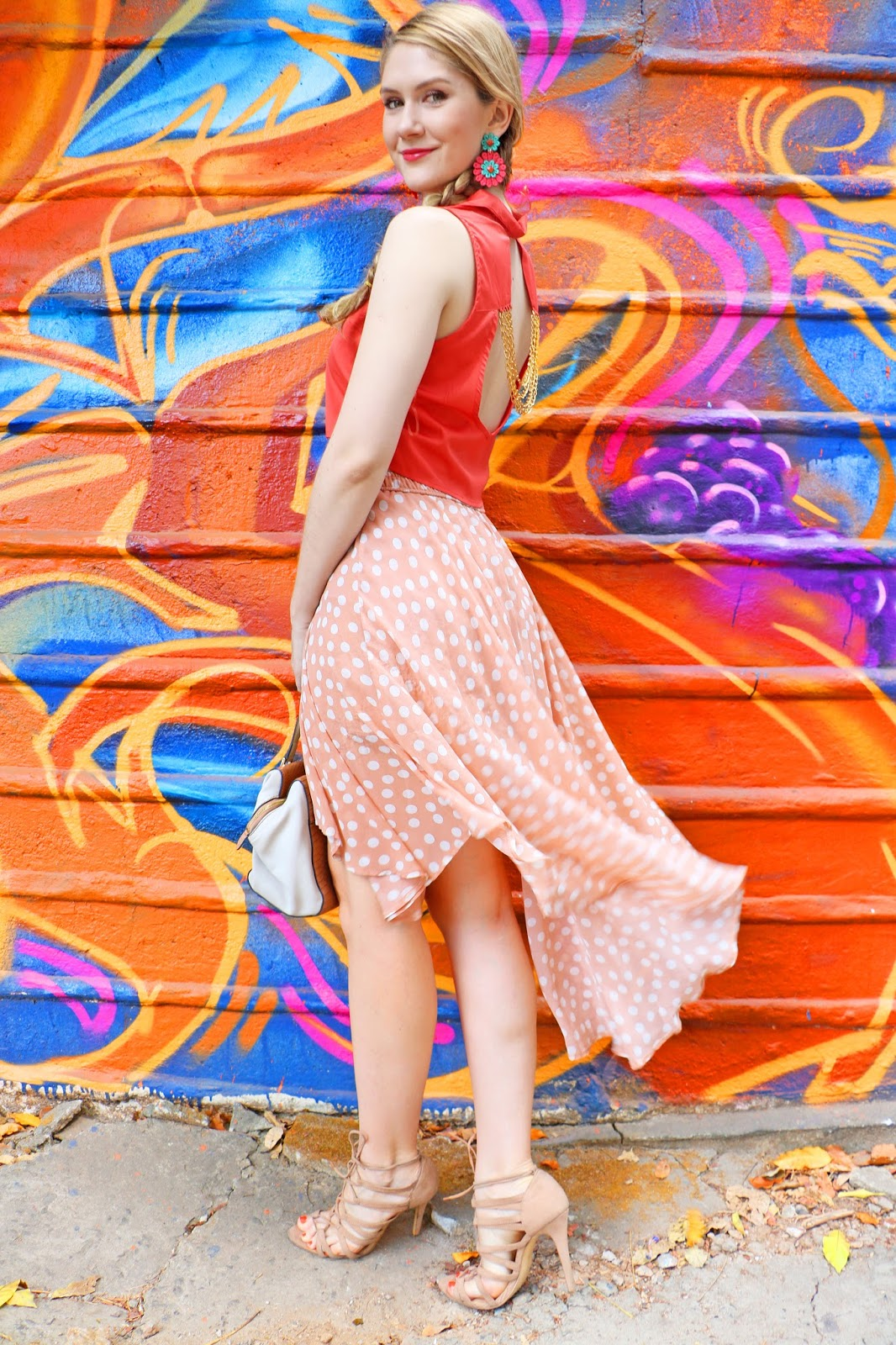Breezy orange outfit for Summer