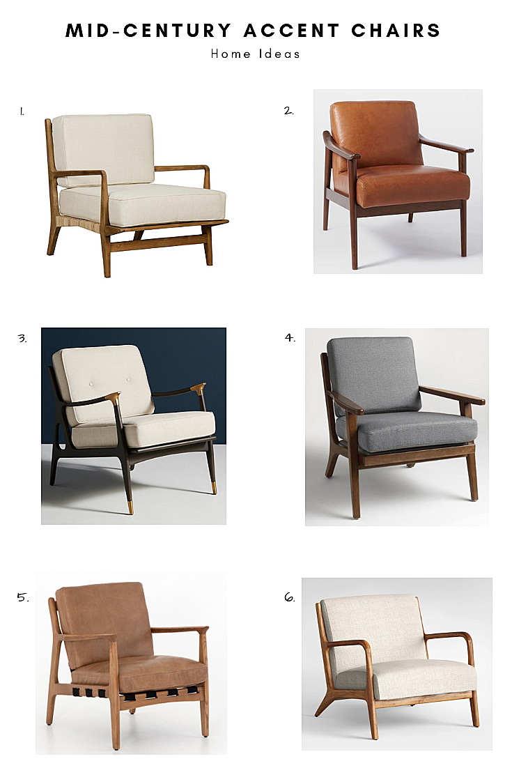 Mid-Century Accent Chairs Round Up