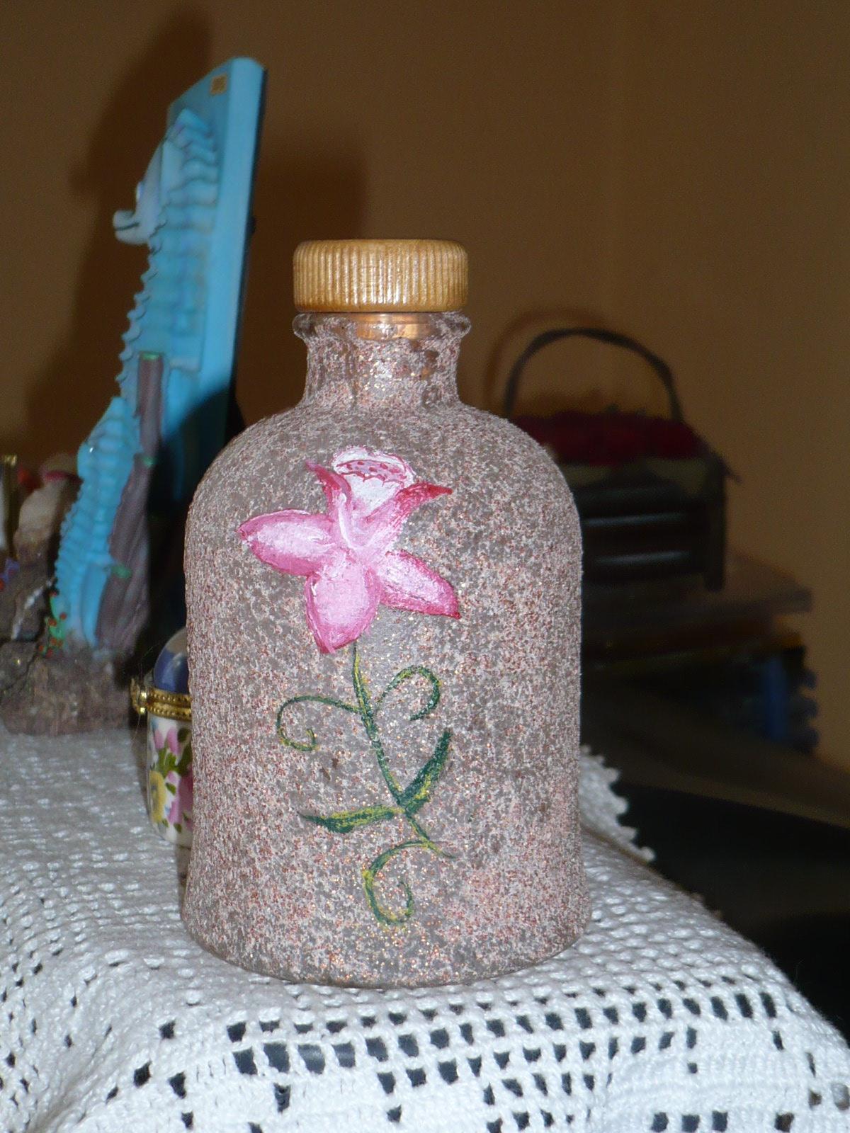Mis cosas Botellas pintadas con arena
