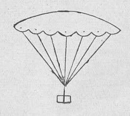 Как сделать бумажный парашют