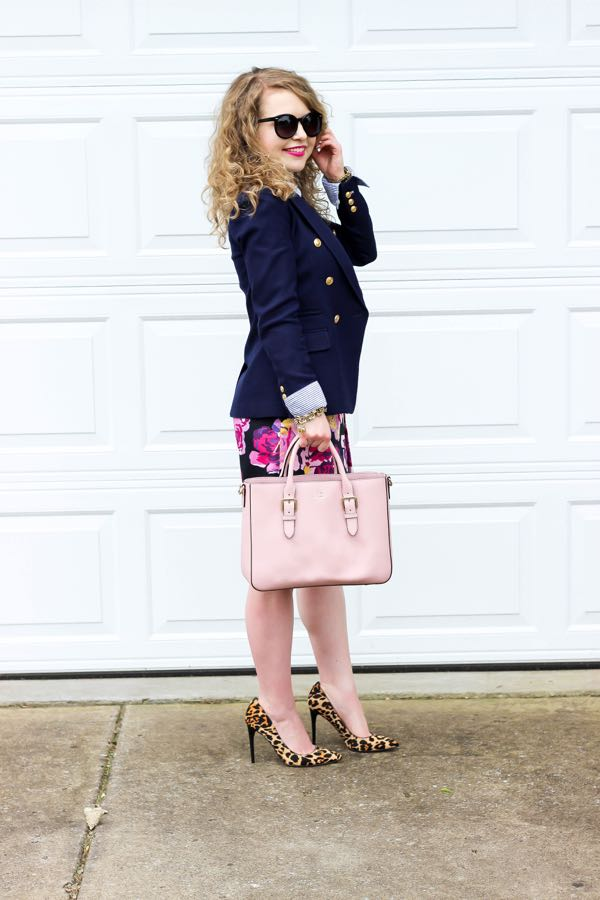 Floral Skirt, Ivanka Trump Leopard Heels