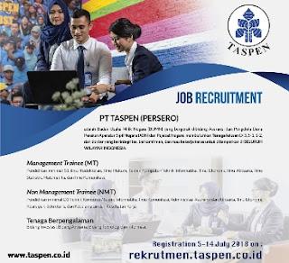 rekrutmen karyawan PT Taspen terbaru