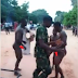 Haba! See How Soldiers Punish Armed Robbers For Stealing Cigarettes, Phone Chargers & Beer (See Photos)