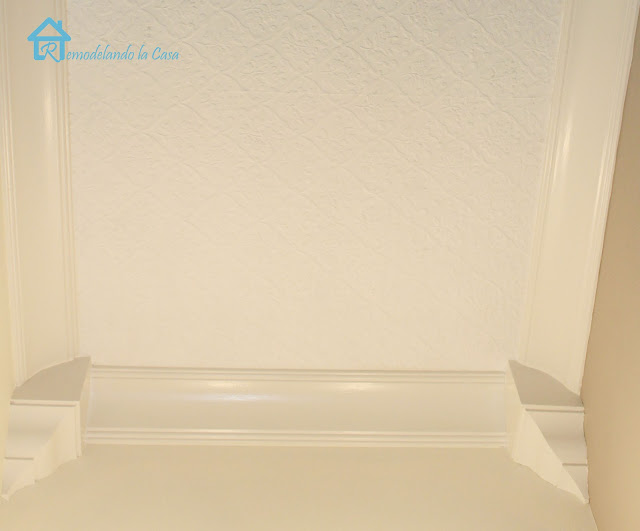 crown molding with added corners from hardware store