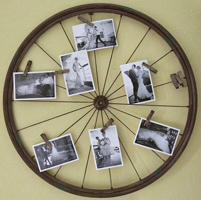 reuse old bicycle wheel