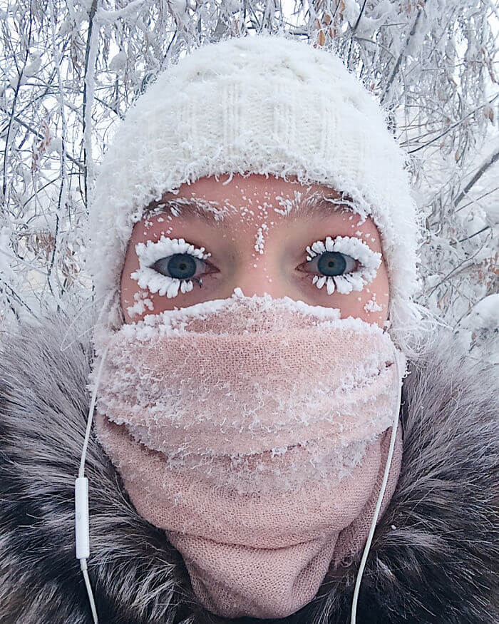 Stunning Images Of The Coldest Village In The World Where The Temperature Reached -62°C (-80°F)!