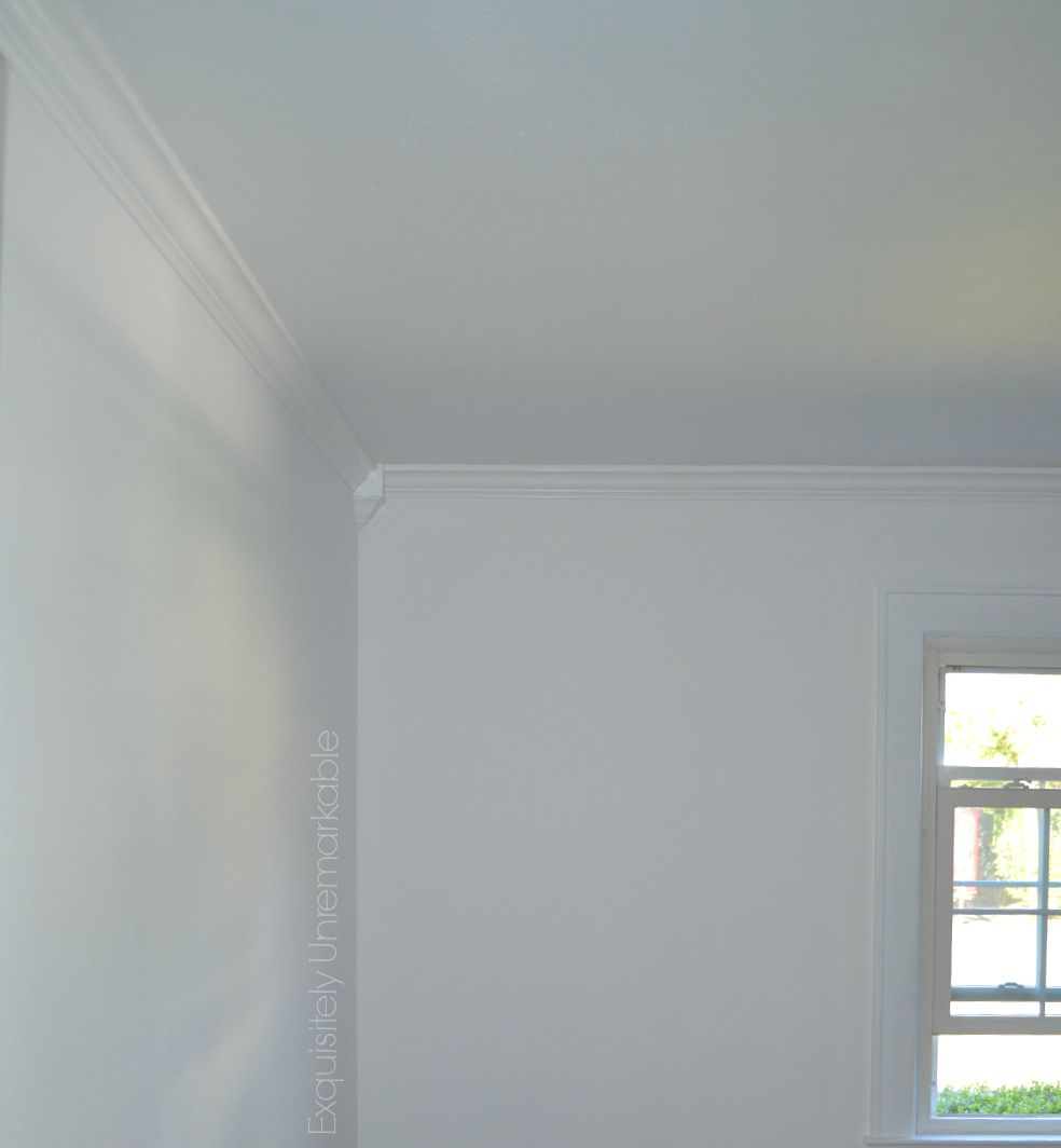 White Bedroom with white moulding and corner blocks