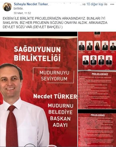 Necdet Türker Mazbatayı Aldı
