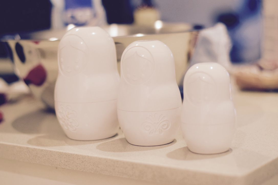 Russian matryoshkas measuring cups