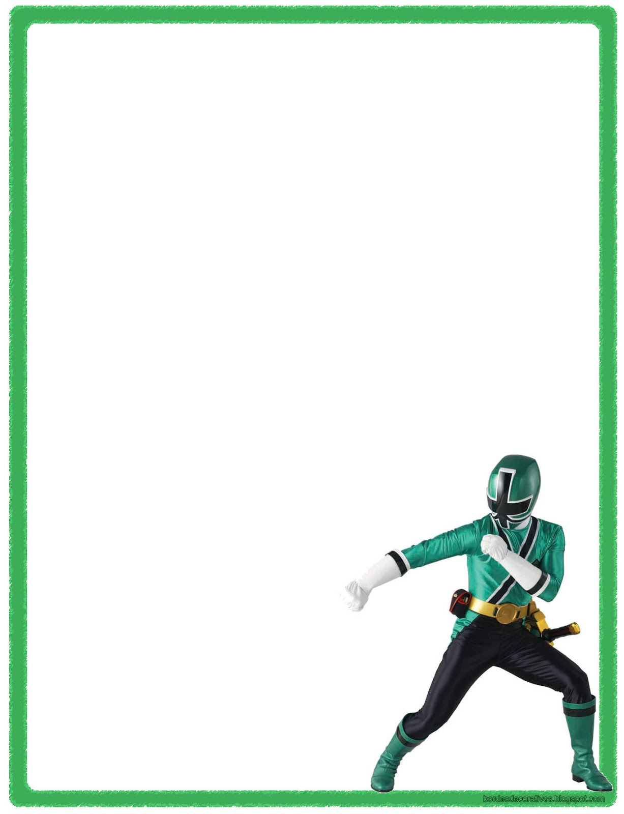 Famoso Power Rangers Samurai Para Colorear Páginas Para Imprimir ...