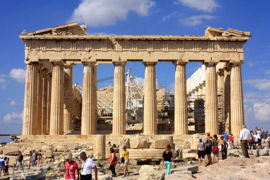 Parthenon in the Acropolis of Athens