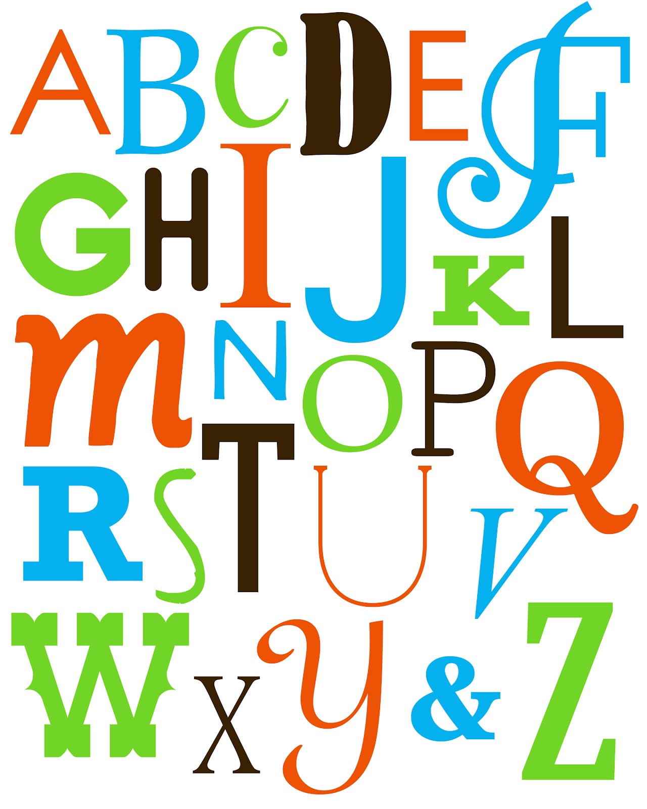 Alphabet Art Printable
