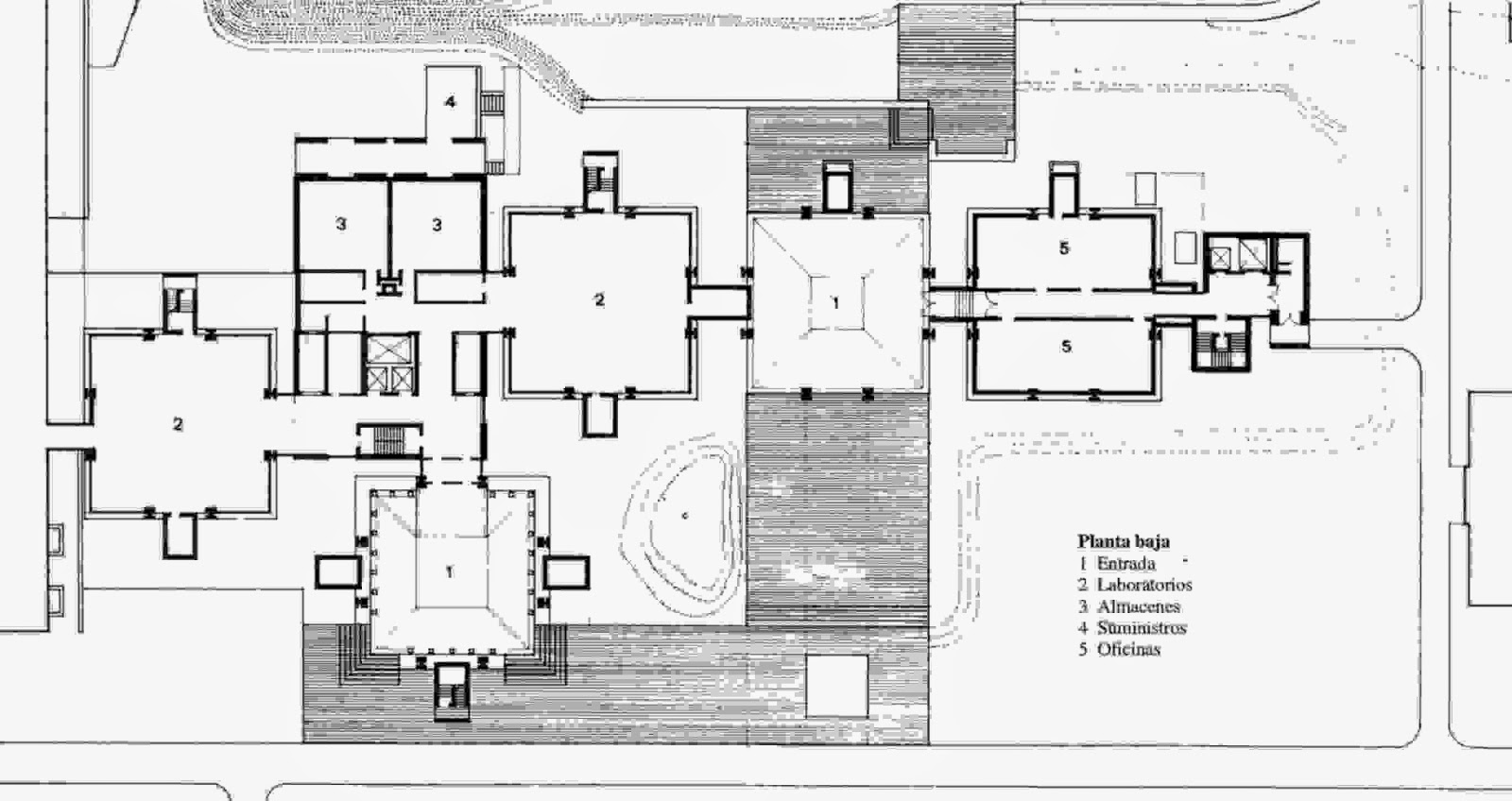 Laboratorios de Biotecnología Richards en Philadelphia | Louis Kahn | Richards Medical Research Building