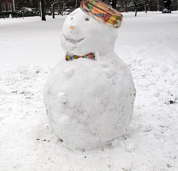 Frosty the snowman would happy in Africa.