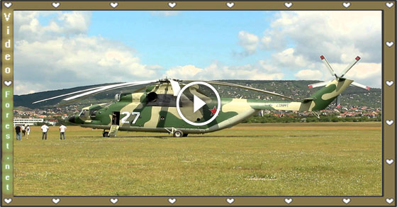 World Largest Russian Air Force Military Mi-26 Cargo Helicopter Take Off at Budaörs Airport