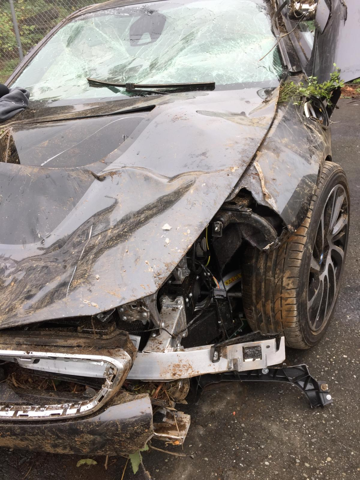 Heavy Bmw I8 Crash Demonstrates Epic Safety Features