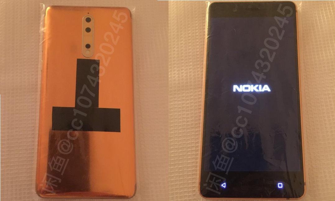 New Nokia 8 real-life images of Copper-Gold variant leaked