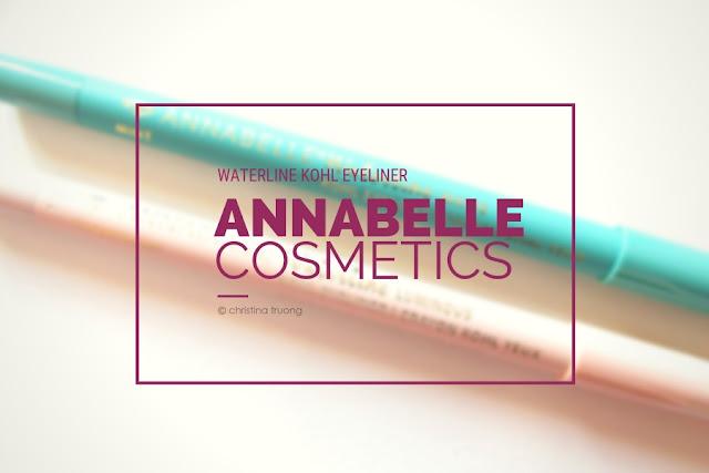 Annabelle Cosmetics Waterline Kohl Eyeliner Review featuring Waterline Luminous Kohl Eyeliner in Champagne and Waterline Matte Kohl Eyeliner in Mint