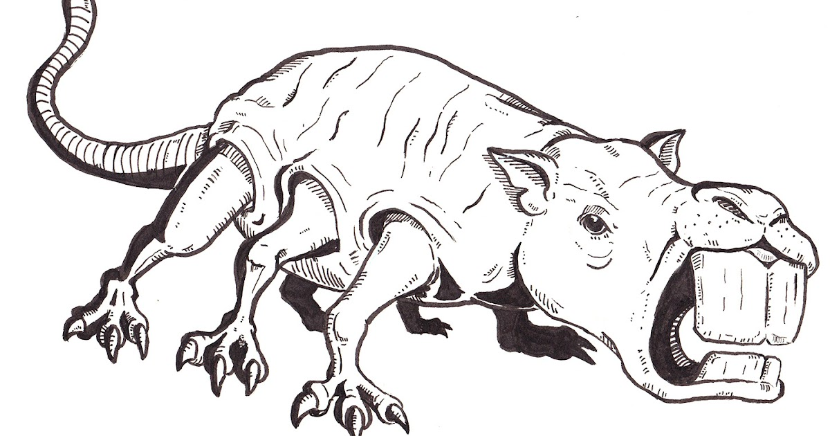 Inktober Monstrosities: O for Osquip