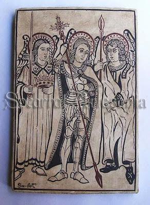 Este socarrat está inspirado en un antiguo grabado valenciano de la época gótica. Socarrat Artesanía