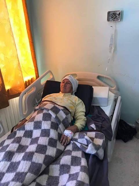 سيدة يناهز عمرها الـ72 عاماً تحمي أحفادها من غدر داعش رغم إصابتها
