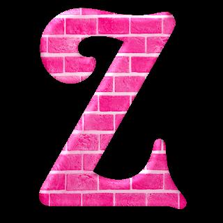 Precioso Abecedario en Ladrillos Rosa. Pink Bricks Abc.