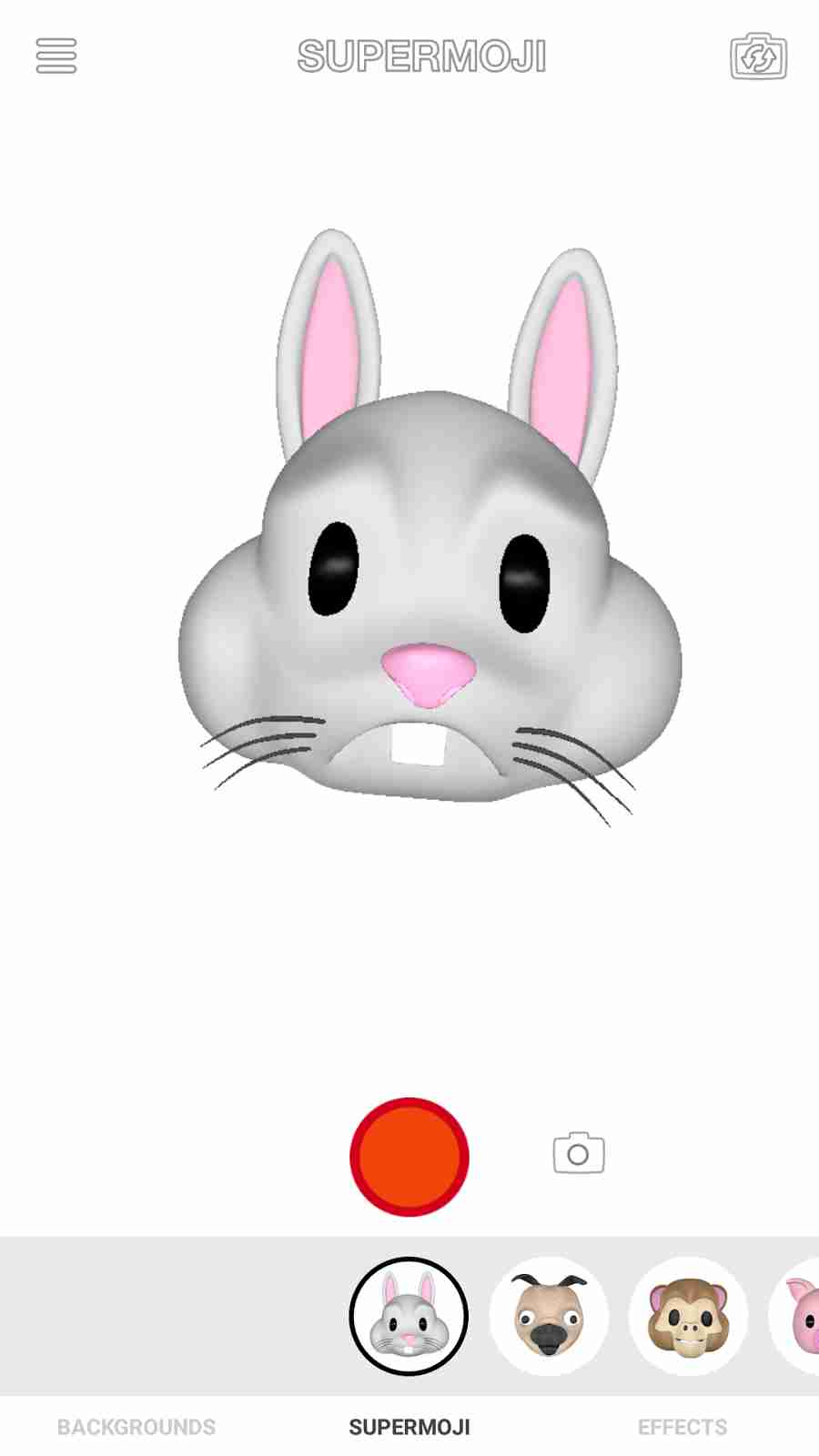 The Apple iPhone X Rabbit Animoji Emojis