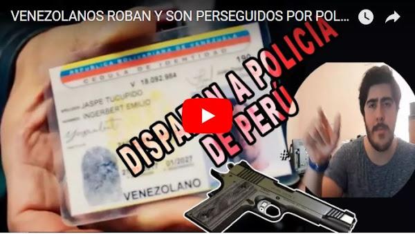 Atracadores venezolanos detenidos en Perú tras fuerte persecución