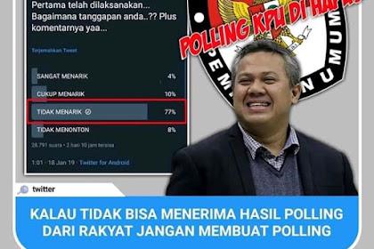 KPU menghapus pollingnya di twitter
