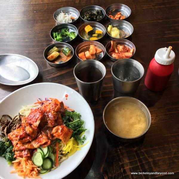 bibimbop bowl at Bowl'd BBQ Korean Stone Grill in Oakland, California