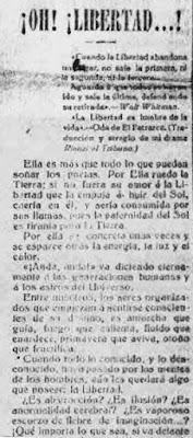 Fragmento del texto publicado en La Aurora Social