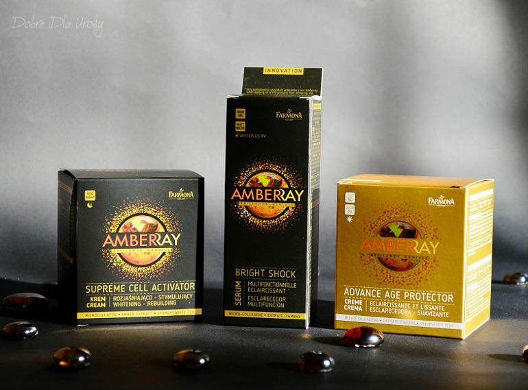 Farmona Amberray - program rozjaśniająco-odmładzający z bursztynem Krem na dzień i Krem na noc