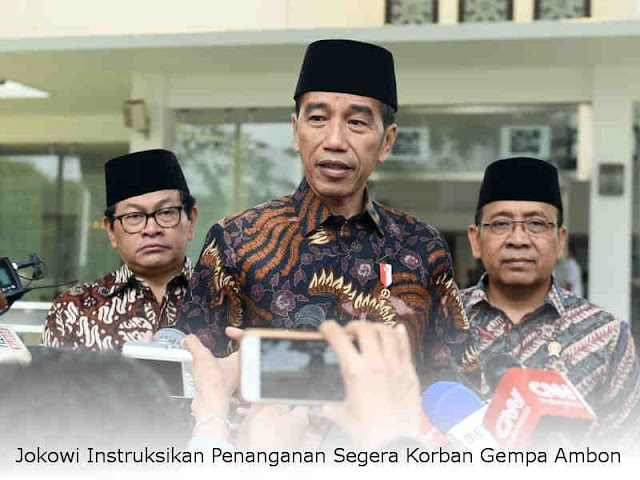 Jokowi Instruksikan Penanganan Segera Korban Gempa Ambon