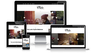 Claire minimal blogger template for women's blogs