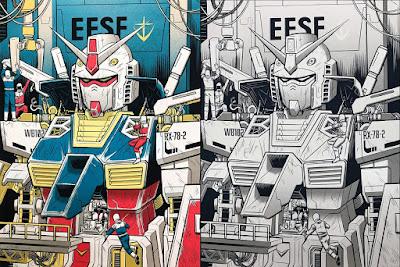 "Gundam ""RX-78-2 Maintenance"" Screen Print by Robert Wilson IV x Nakatomi"